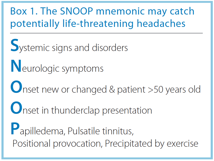 Ruling Out Secondary Headache - Practical Neurology