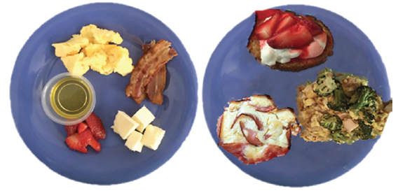 Figure 2. Meals before (left) and after (right) having a medical chef educator on the team.