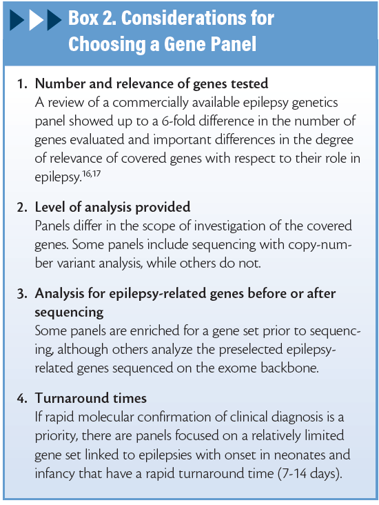 Genetic Testing in the Care of Patients With Epilepsy